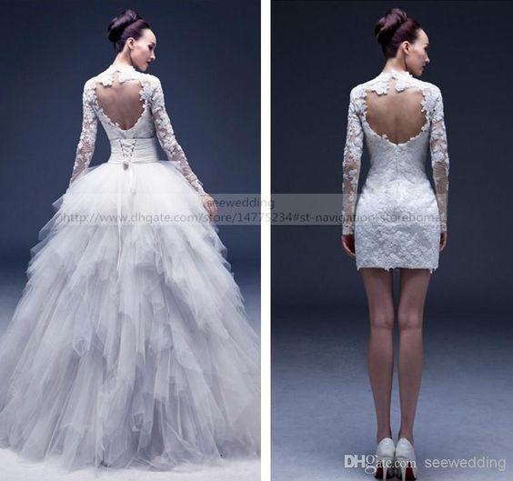 42dc784ff De la ceremonia a la fiesta de casamiento con este traje de novia  desmontable.