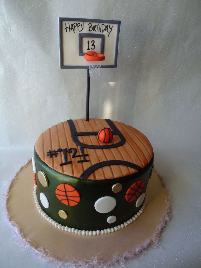 This is a cake I did for a girl who loves basketball and was