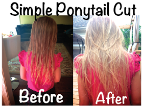 Life Sprinkled With Glitter Diy Ponytail Cut On A Little Girl Long