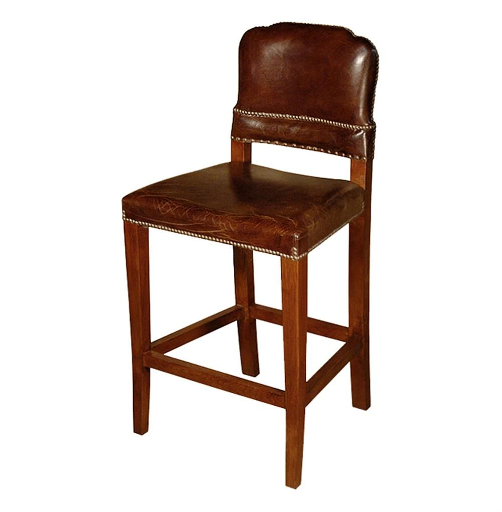 Gibbons Rustic Lodge Cigar Top Grain Leather Counter Stool In 2021 Leather Counter Stools Stool Brown Leather Bar Stools