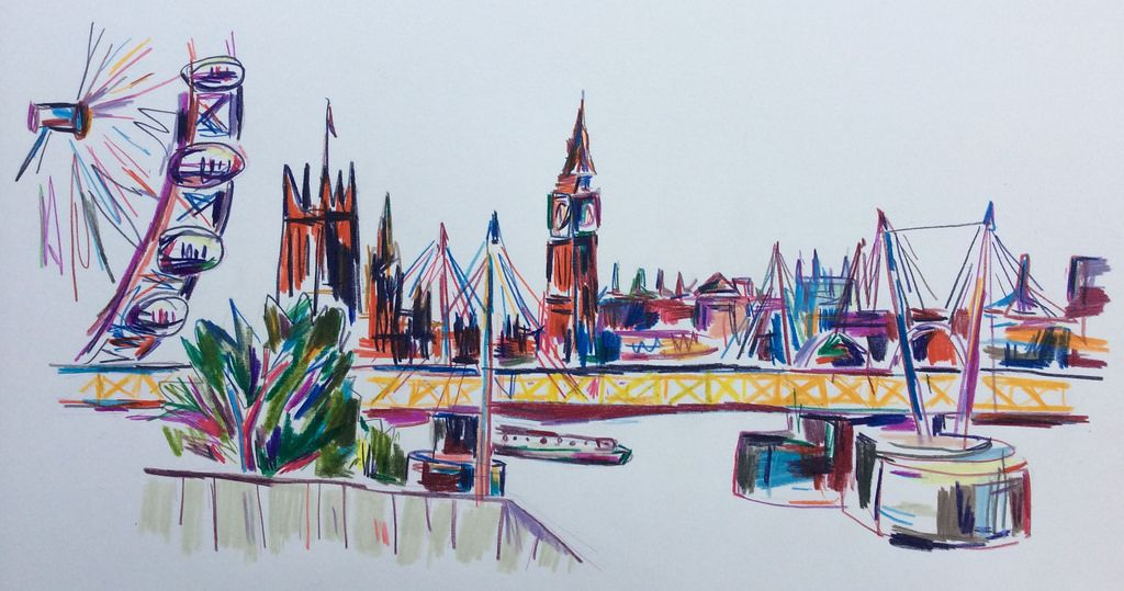 Hungerford Bridge & The Houses of Parliament from Waterloo | by Nick Kobyluch