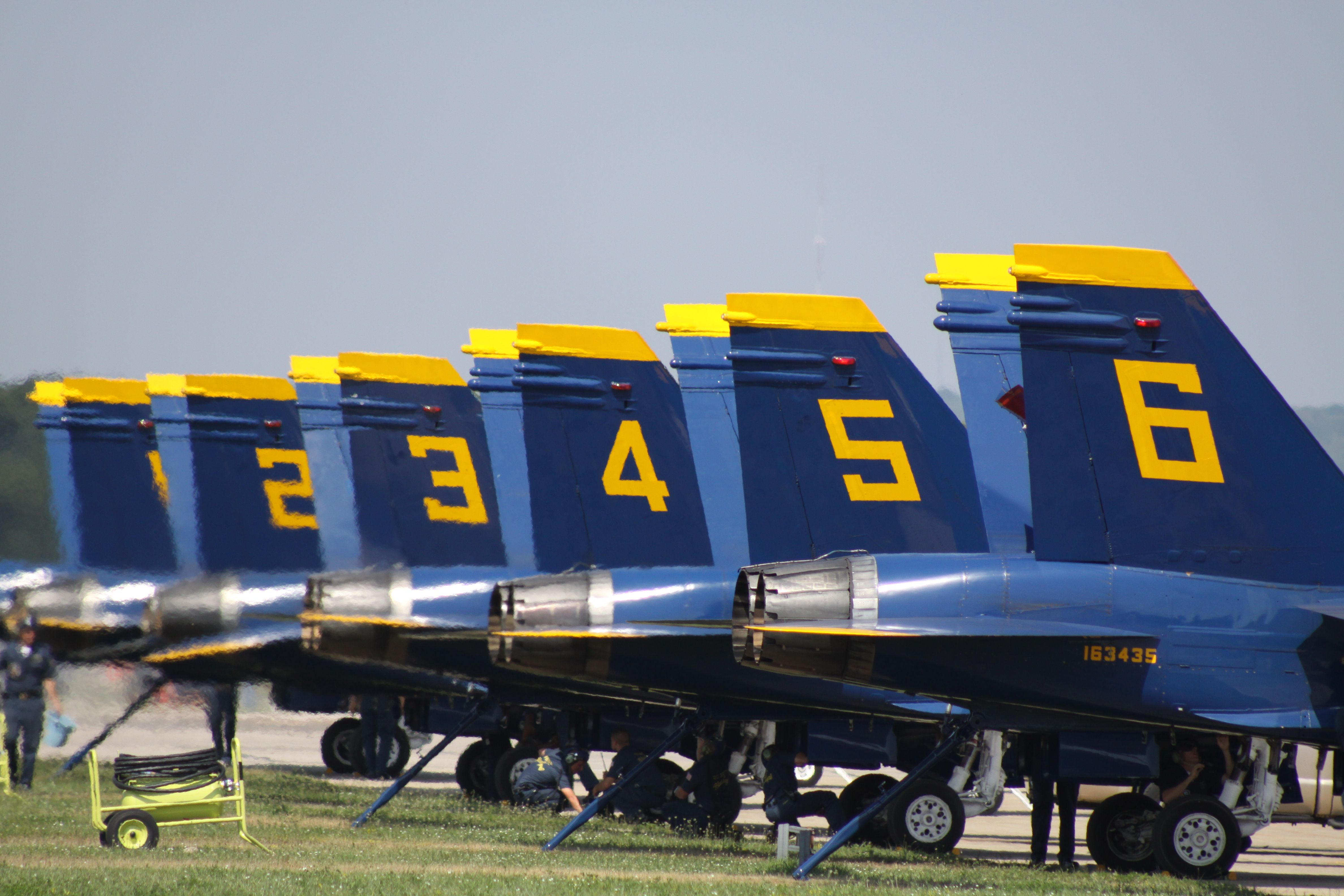 Blue Angels All Lined Up At The Coast Guard Air Station In Cherry Capital Airport Traverse City Michigan Blue Angels Angel Photography Coast Guard