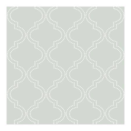 Nuwallpaper Grey Quatrefoil Peel Stick Wallpaper Walmart Com Nuwallpaper Quatrefoil Wallpaper Peel And Stick Wallpaper