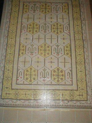 Other Latch Hooking Supplies 28150 Huge Hook Rug Canvas Only 98 X 64