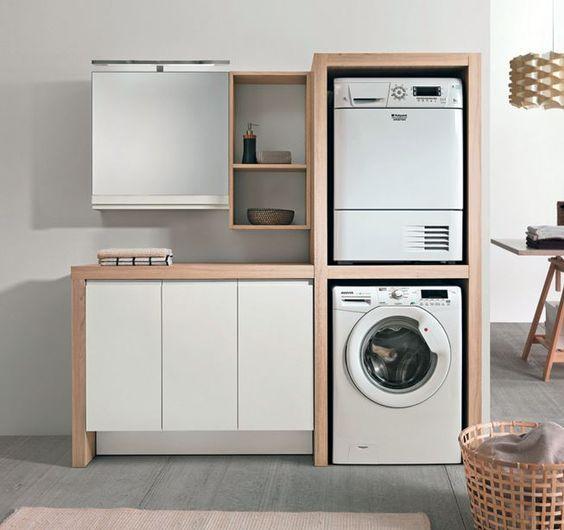 Arredo zona lavanderia | CASA | Pinterest | Laundry, Laundry rooms ...