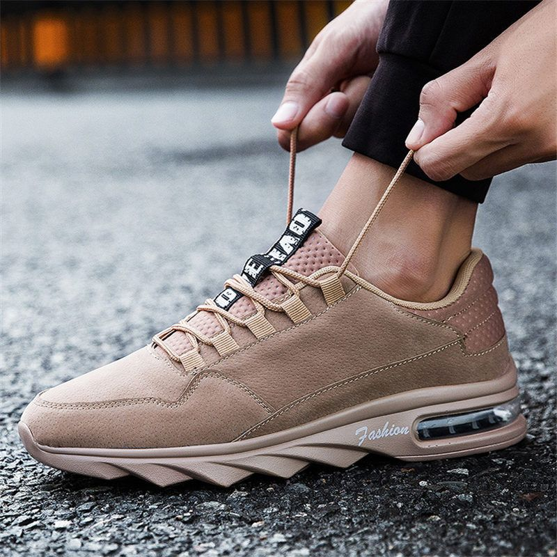 Autumn Men Sneakers Leather Running shoes for for for men Air Cushion ... b9d097
