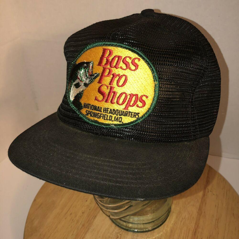 Vtg Bass Pro Shops Headquarters Mo 70s 80s Usa K Brand Trucker Hat Cap Snapback Ebay Trucker Hat Hats Snapback