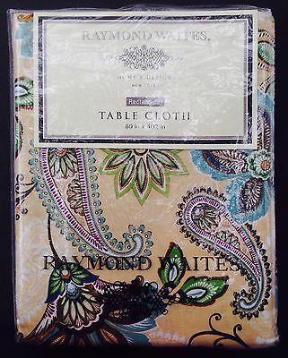 Bon Raymond Waites Tablecloth New Paisley Cotton Rectangular 60x102 Jacobean