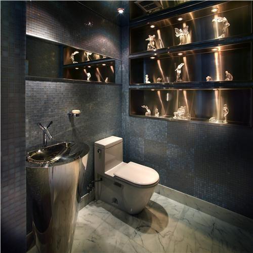 Powder Bathroom Ideas: Dramatic Contemporary Bathroom By Pepe Calderin On HomePortfolio