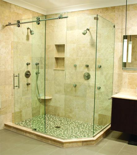 Matrix Series Frameless Custom Shower Enclosures, by Glasscrafters Inc.