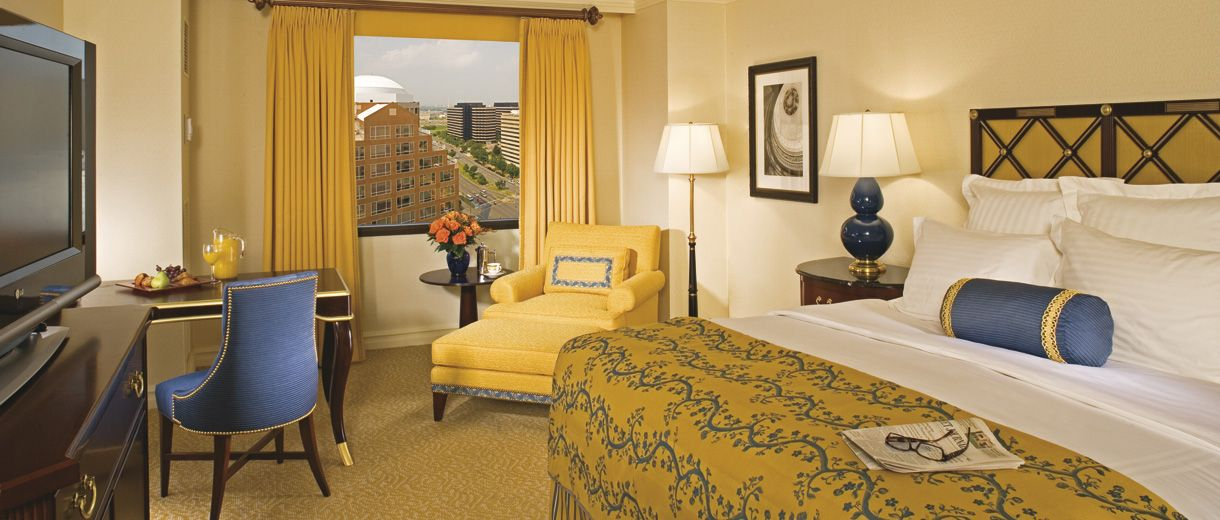 Enjoy a cheerful backdrop for a lovely night's stay at The Ritz-Carlton, Pentagon City.