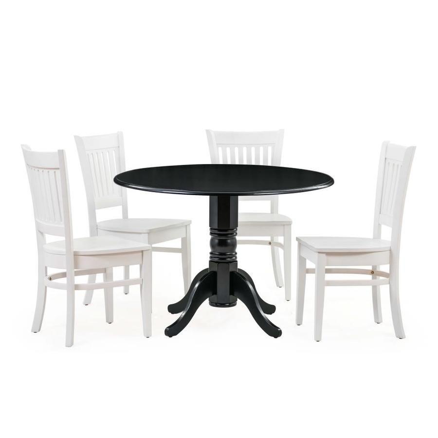 M D Furniture 5 Piece Burlington Dining Set Bumi5 Blk42 W In 2020