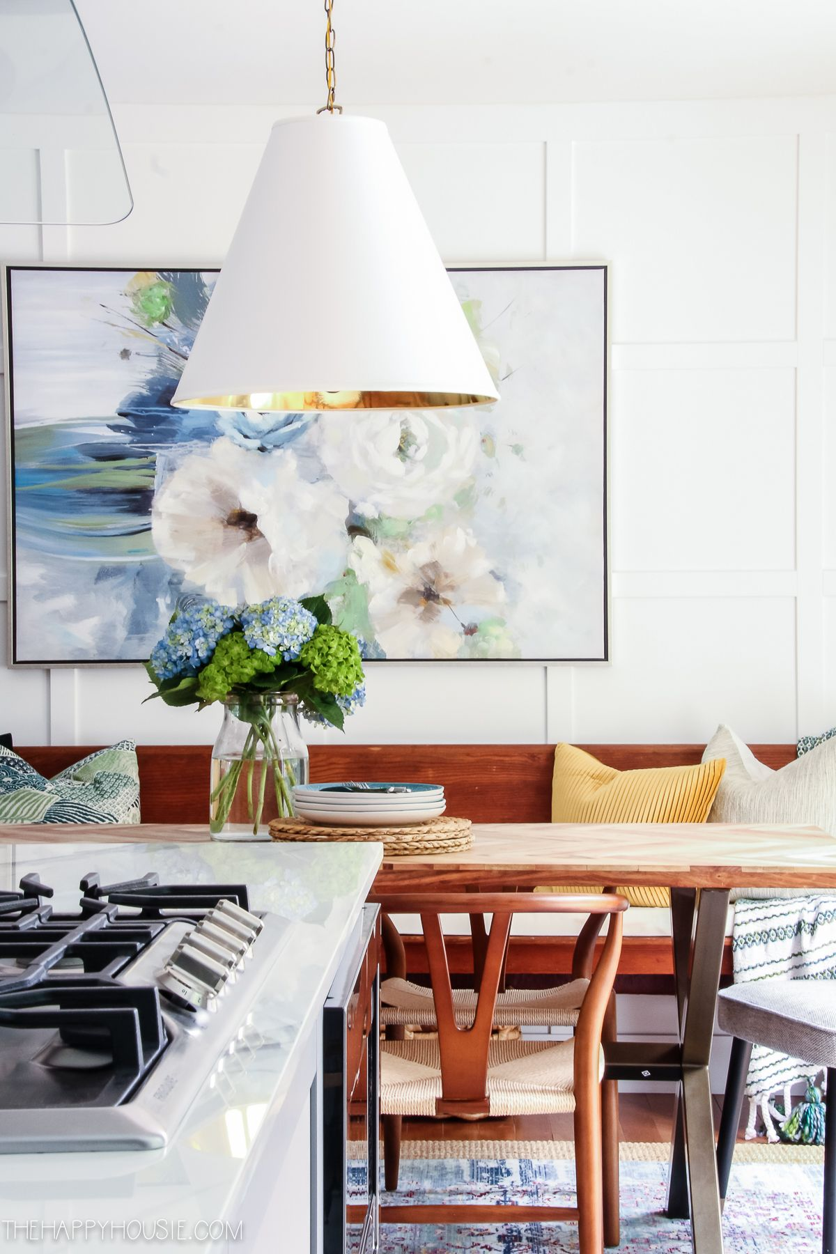 modern boho farmhouse dining room before after makeover reveal source guide decor on boho chic kitchen table id=95807