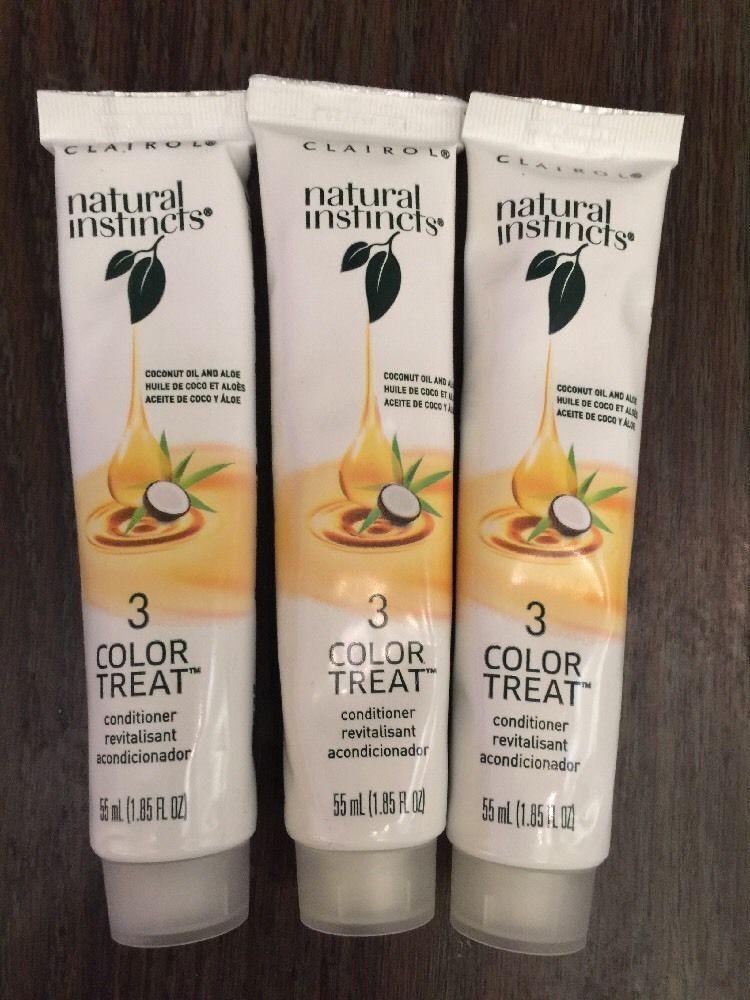 Clairol Natural Instincts 3 Color Treat Conditioner Set Of 3 New Clairol Natural Instincts Clairol Natural Instinct