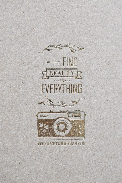 Find Beauty In Everything | Photography Quote, Photography And Wisdom