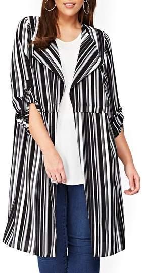 684311c2d7ebb Evans Longline Stripe Jacket