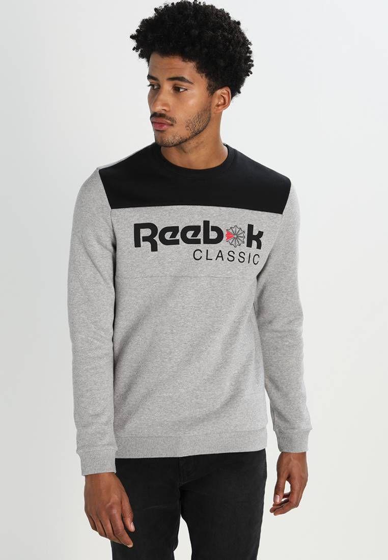Reebok Crew Neck Sweatshirt, Grey Marl