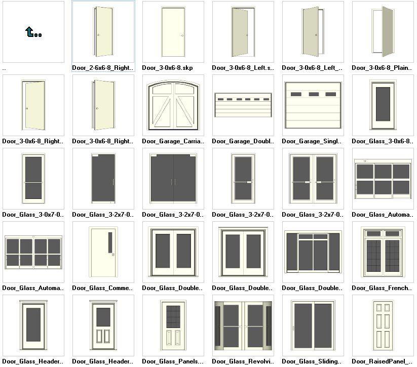 Free Software For You Free Download Sweet Home 3d: Sketchup Door 3D Models Download – CAD Design