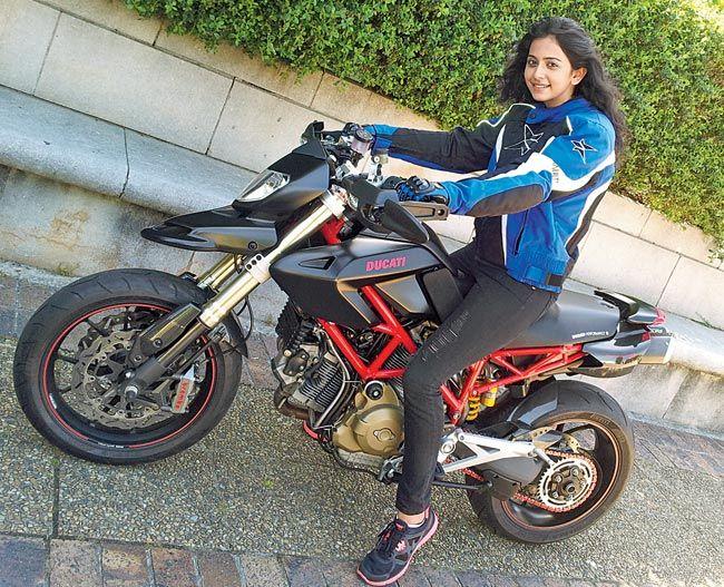 Yaariyan Actress Rakul Preet Singh Learns To Ride A Bike Hot