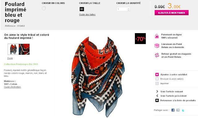 plutôt cool luxe sélectionner pour le meilleur Mon foulard aztèque soldé à 3 euros ! - Styles by Assitan ...