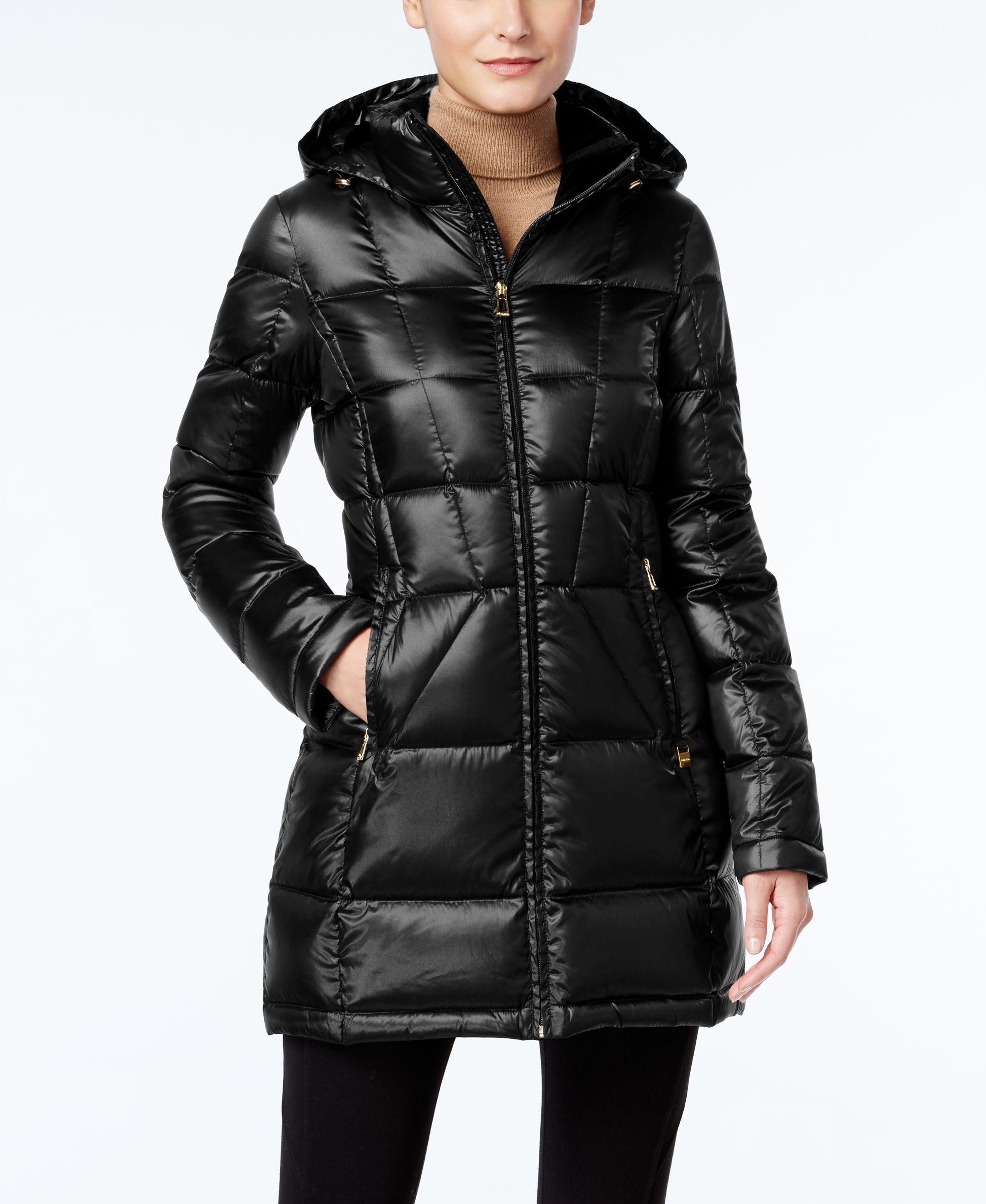 Calvin Klein Hooded Packable Down Puffer Coat ダウン
