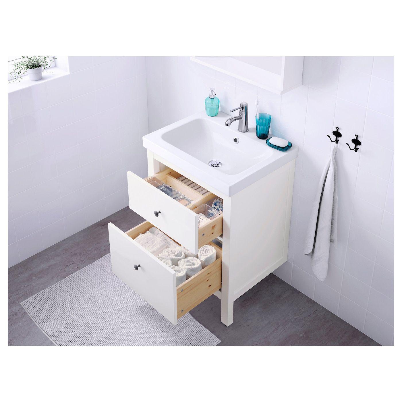 Bathroom Faucet Hemnes Ikea Odensvik Runskar Vanity White