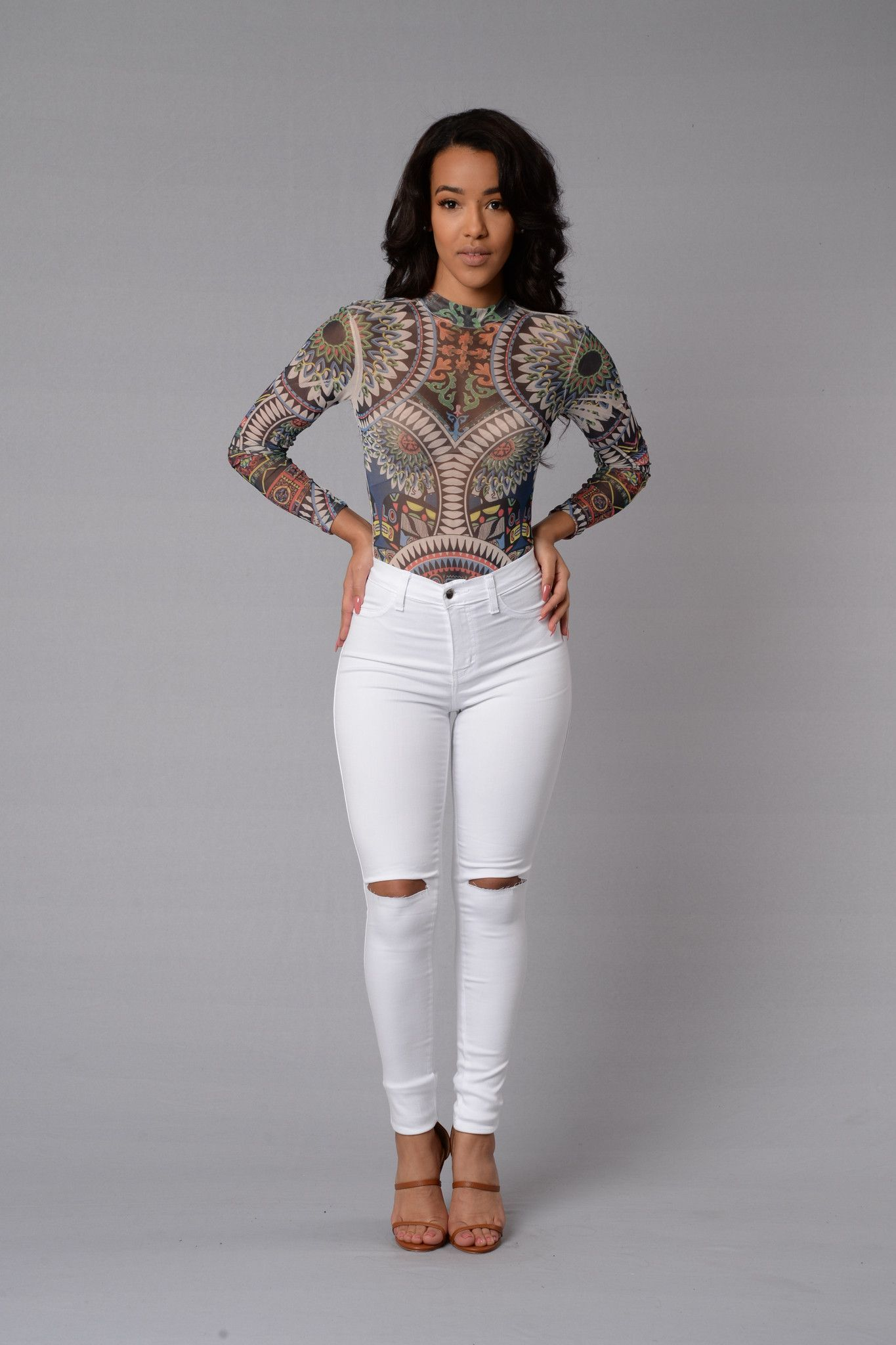 kaleidoscope bodysuit  multi  fashion outfits style