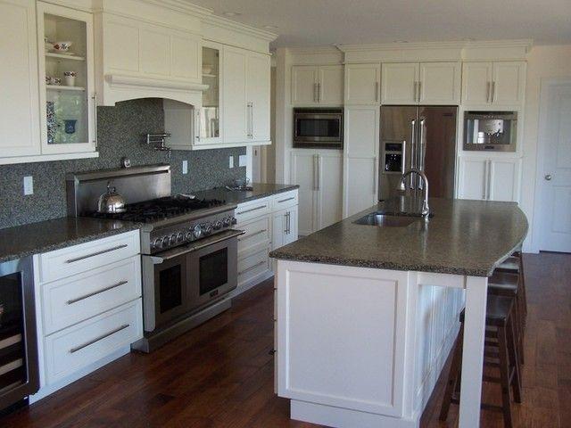 Modern Black White Silver Kitchens
