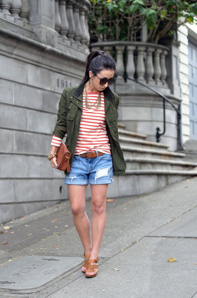 The Not-So-Boyfriend Denim Shorts | outfits | Pinterest | Military ...