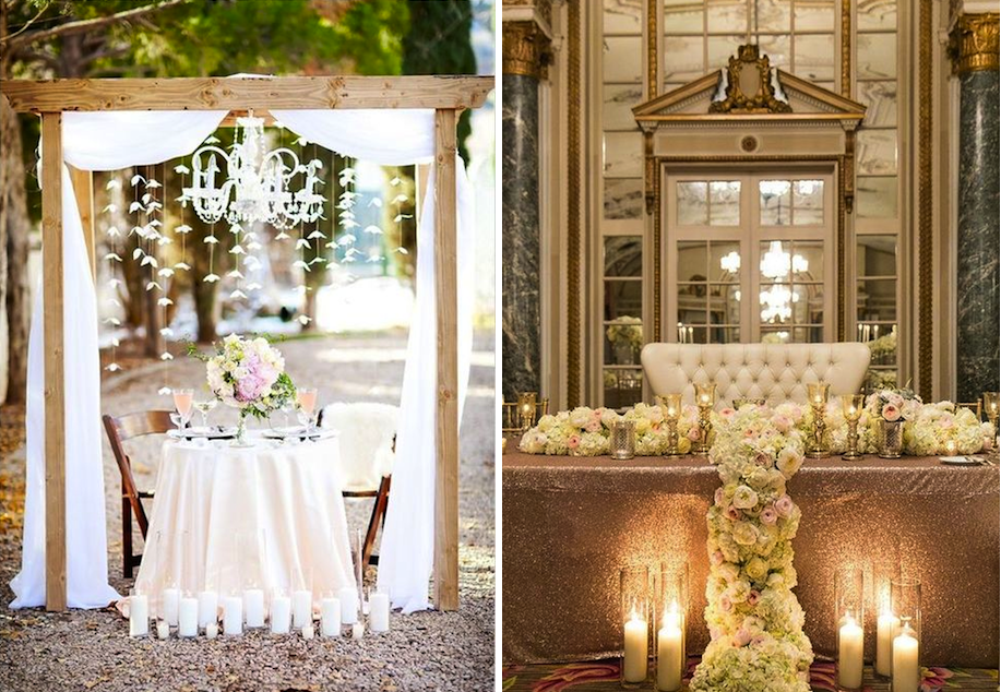 28 Stylish Sweetheart Tables Alexan Events Denver Wedding