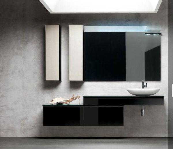 moderne badmoebel artesi hochglanz holz – usblife, Badezimmer