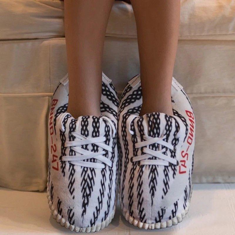 YEEZY PLUSH SLIPPERS #fashion #clothing
