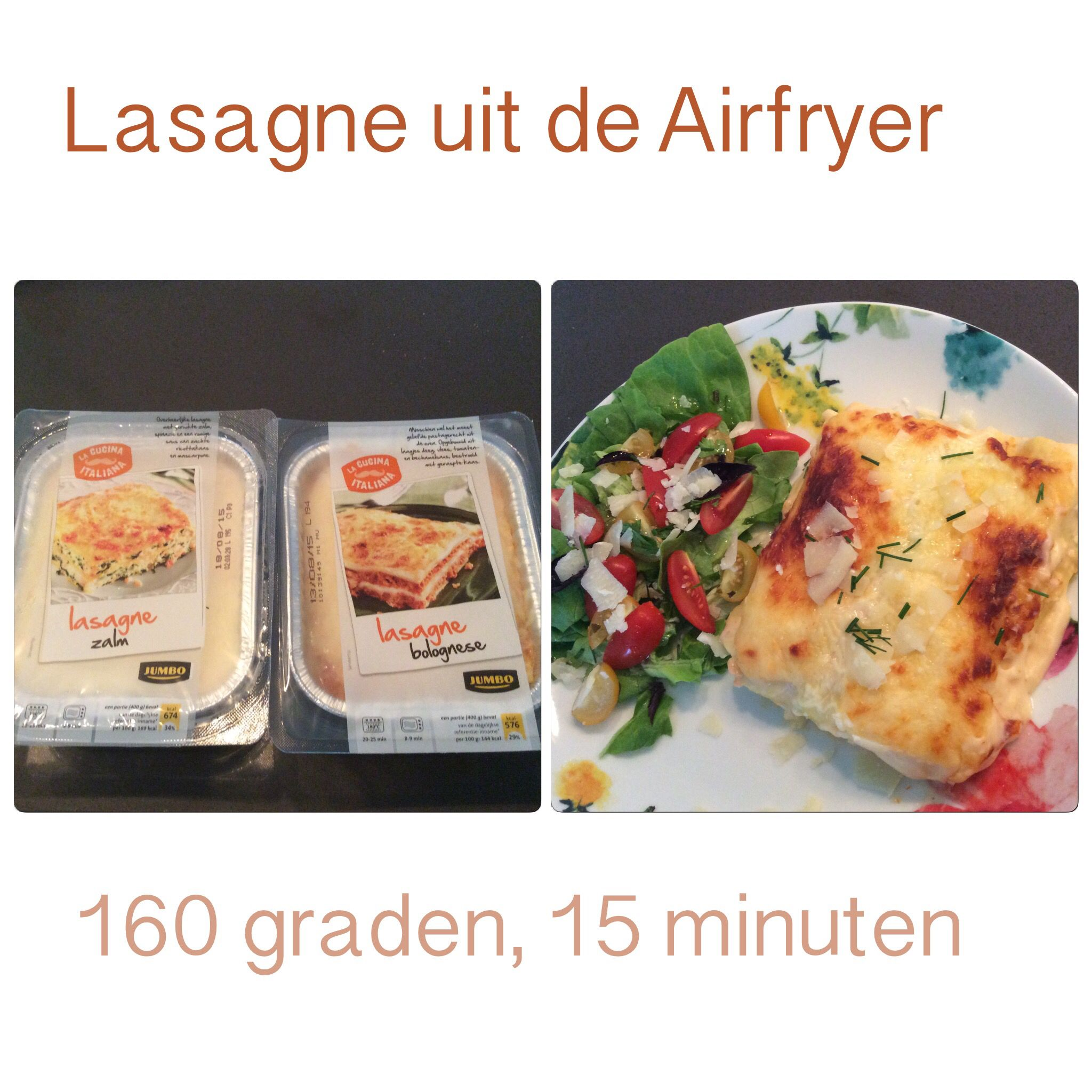 lasagne warm maken
