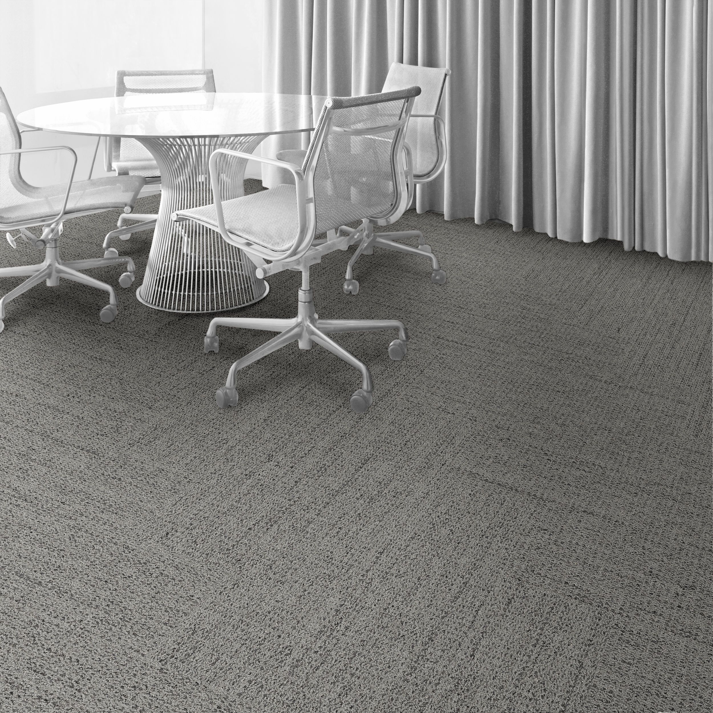 Interface carpet tile: WW870 Color: Natural Weft 105348 Installation method: Herringbone                Room scene: Private Office