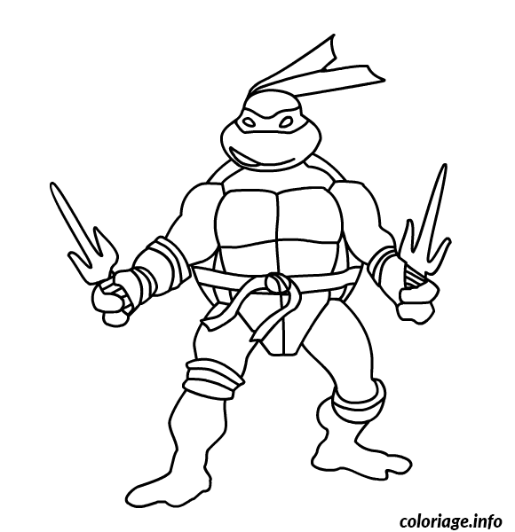 Coloriage Tortue Ninja 191 Dessin à Imprimer Coloring