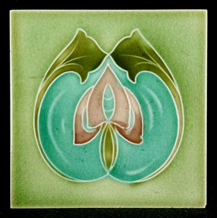 Art Nouveau Reproduction Decorative Ceramic tile 156