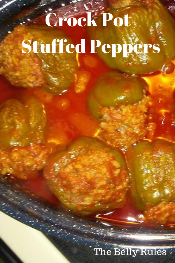 Crock Pot Stuffed Green Peppers Recipe Stuffed Peppers Slow Cooker Stuffed Peppers Green Pepper Recipes