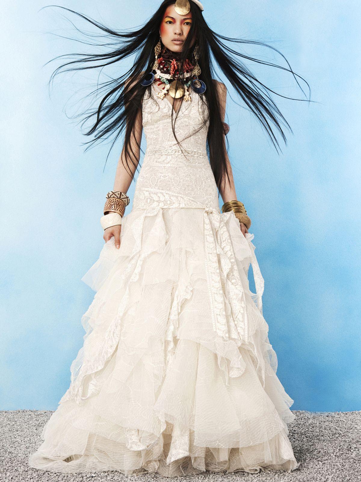 Свадебное платье в цыганском бохо стиле | Вечерние и свадебные ...
