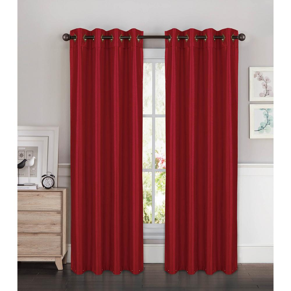Window Elements Semi Opaque Kim Faux Silk Extra Wide 96 In L