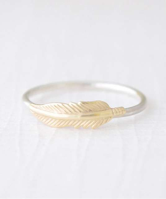 Olive Yew | Feather Ring #oliveyew #feather #ring