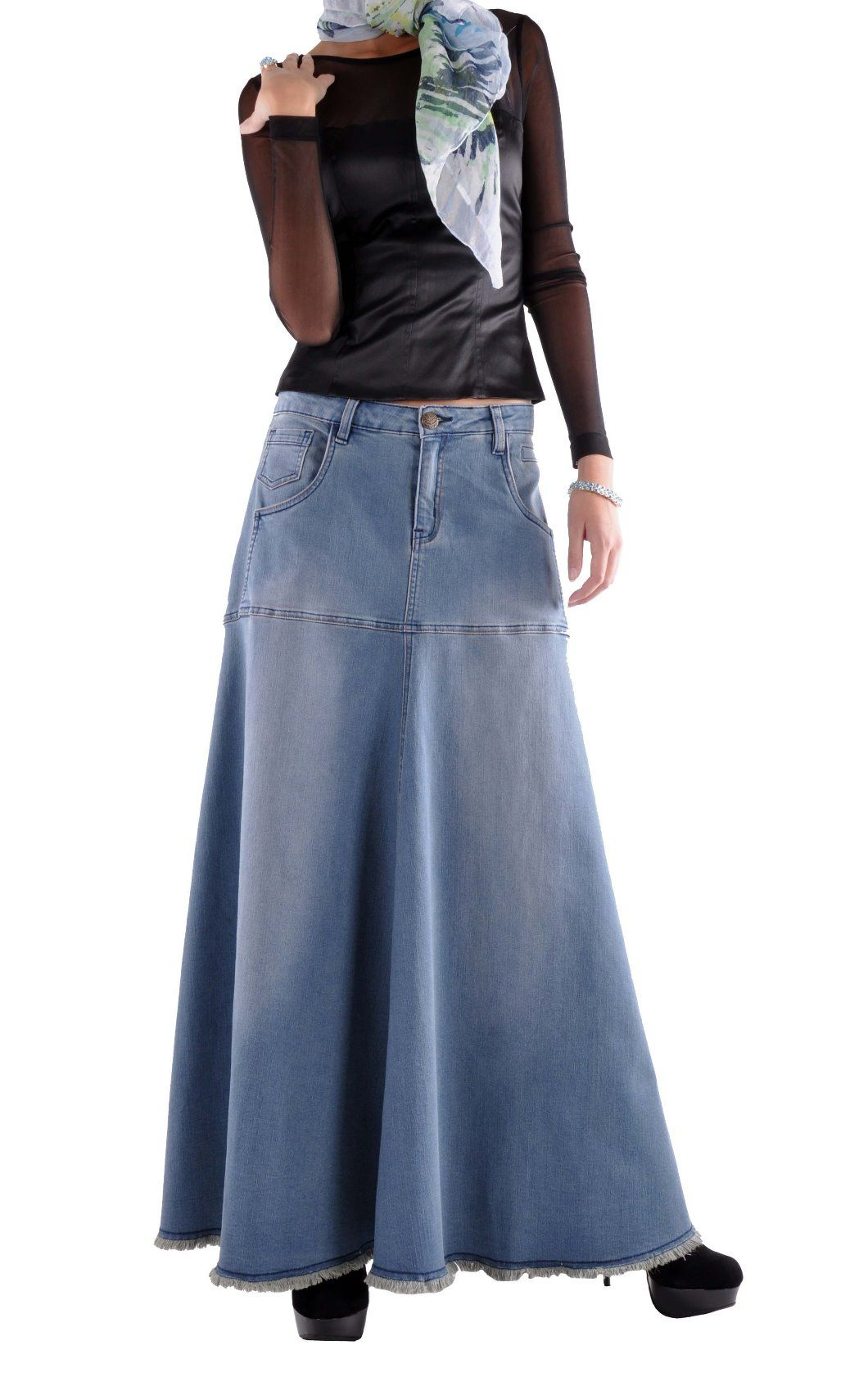 Flowing Love Long Jean Skirt - Plus Size | Wish List | Pinterest ...