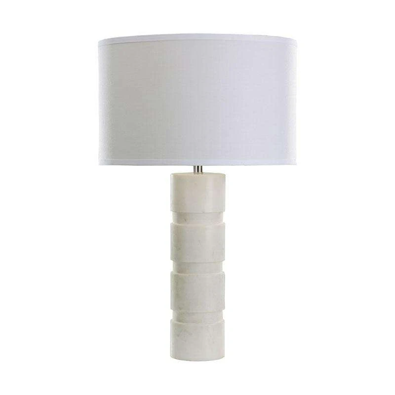 Round Stacked Marble Table Lamp In 2020 Table Lamp Contemporary Table Lamps Lamp