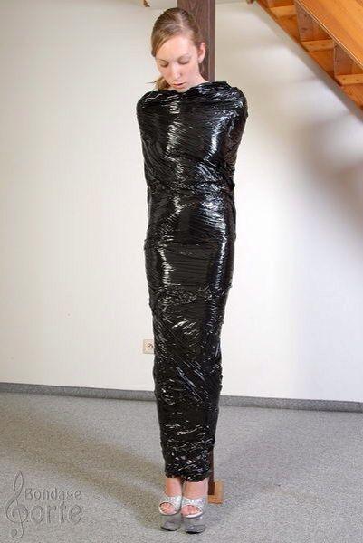 Fetish tape plasticwrap images 618