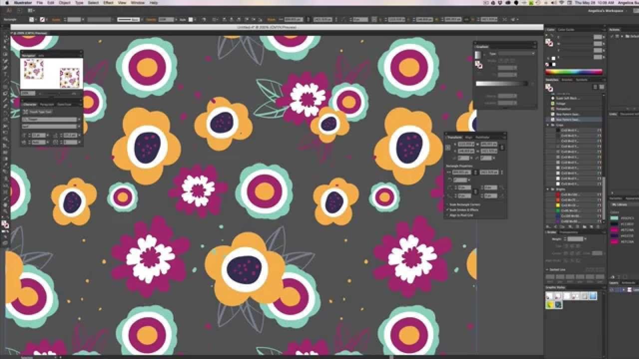 Create A Random Repeat In Illustrator Cc Pattern Design