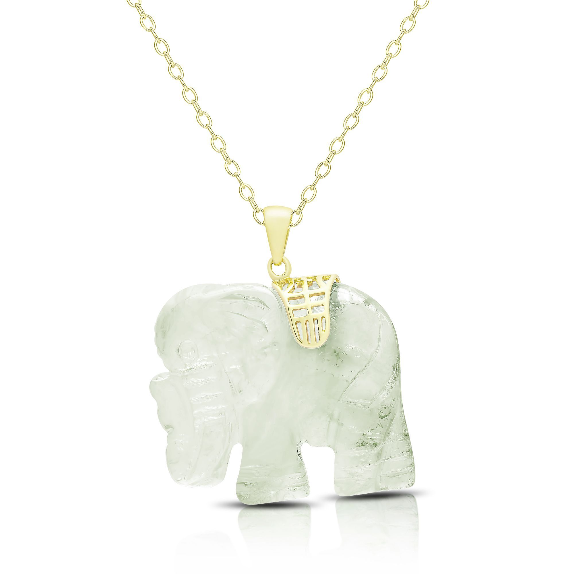 Dolce giavonna gold over silver carved new jade elephant necklace dolce giavonna gold over silver carved new jade elephant necklace osn1028 nj womens size 18 inch green aloadofball Gallery