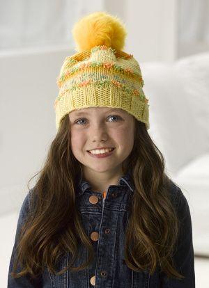Jazzy Knit Hat (version #3); free knitting pattern at ...