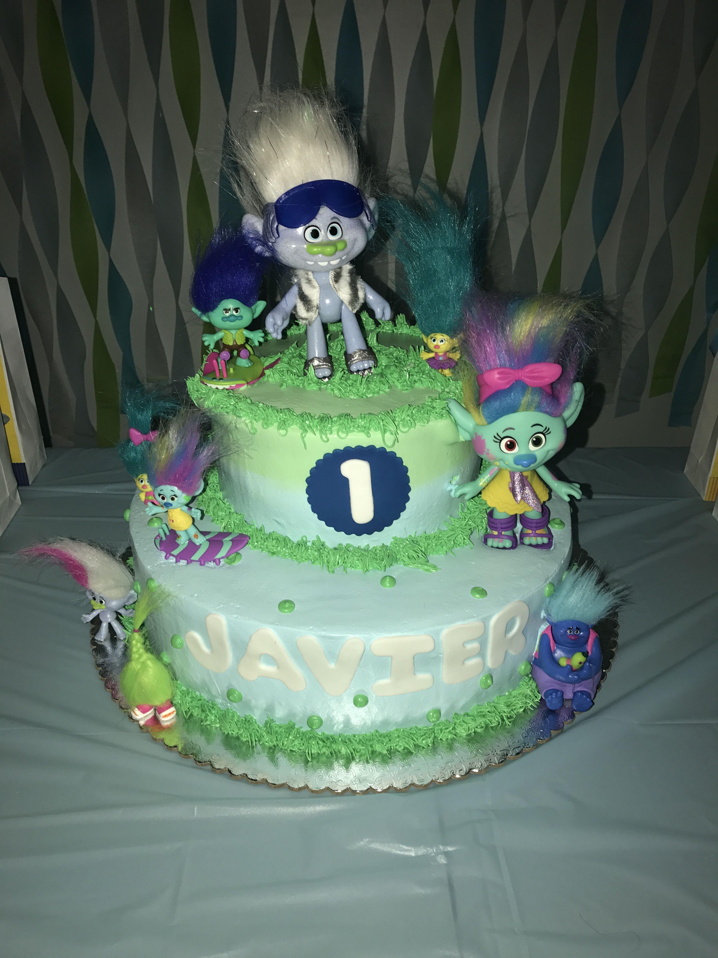 My baby boys trolls cake trolls birthday party trolls