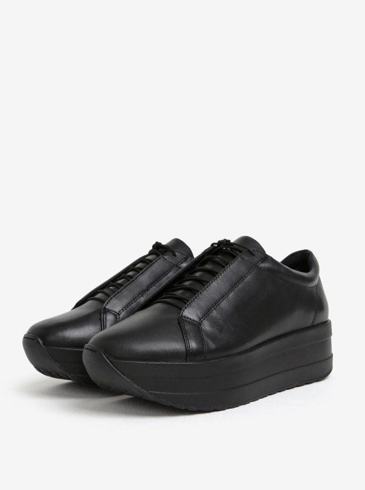 83b95bca801 Čierne dámske kožené tenisky na platforme Vagabond Casey Sister