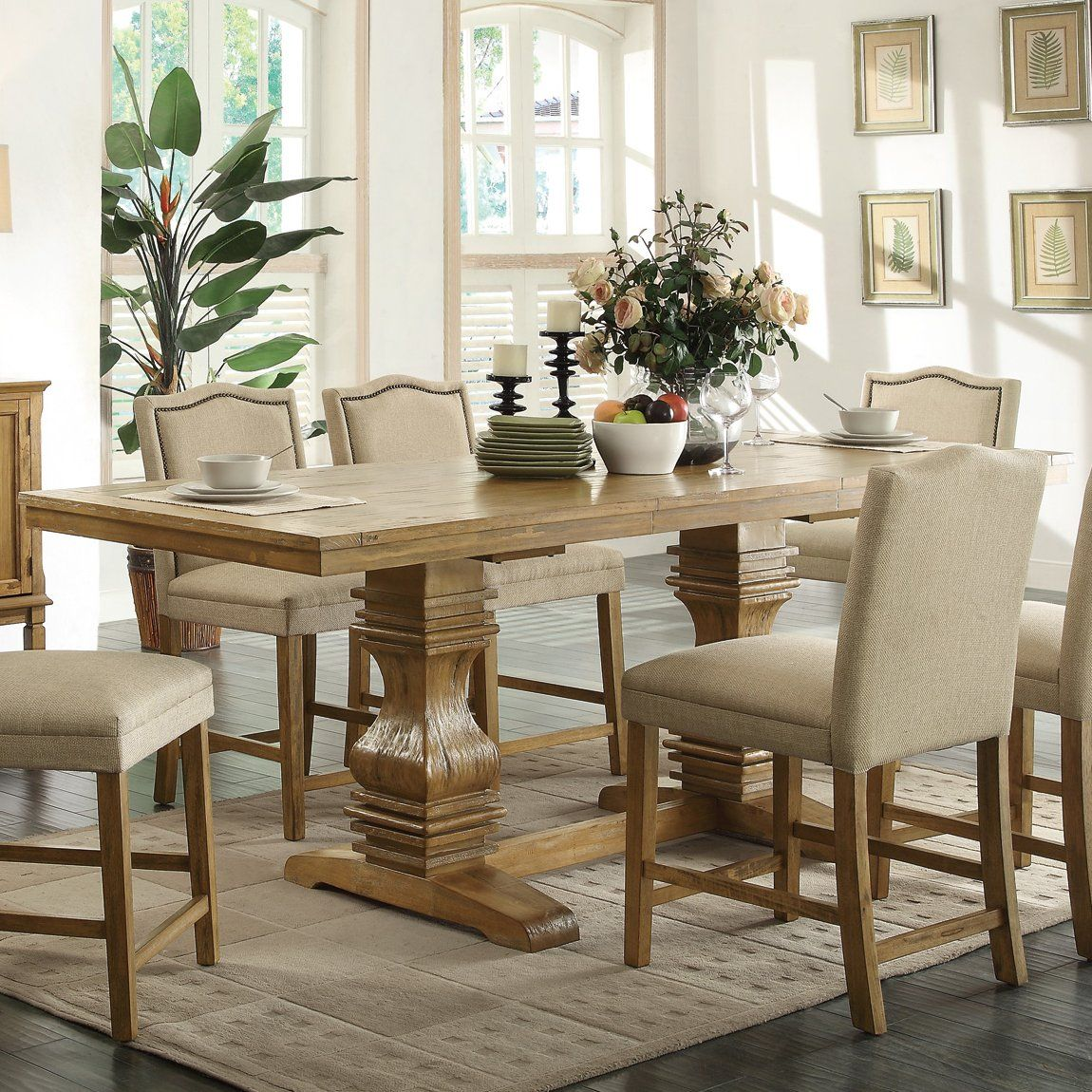 Coaster Fine Furniture 103718 Parkins Counter Height Dining Table At Atg S