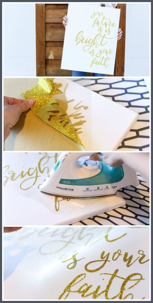 The Secret to putting Vinyl on Canvas - Bee crafts, Crafts for teens to make, Crafts for teens, Creative crafts, Craft projects, Cricut crafts - Have you wondering about putting Vinyl on Canvas  Have you tried it and it didn't work for you  I have what I found to be the secret to putting vinyl on canvas  Get excited! I pulled this canvas project together in no time! If you are looking for information on how to put vinyl on